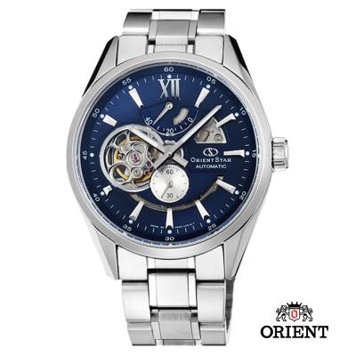 ORIENT STAR 東方之星 OPEN HEART系列 鏤空機械錶-藍色/41mm