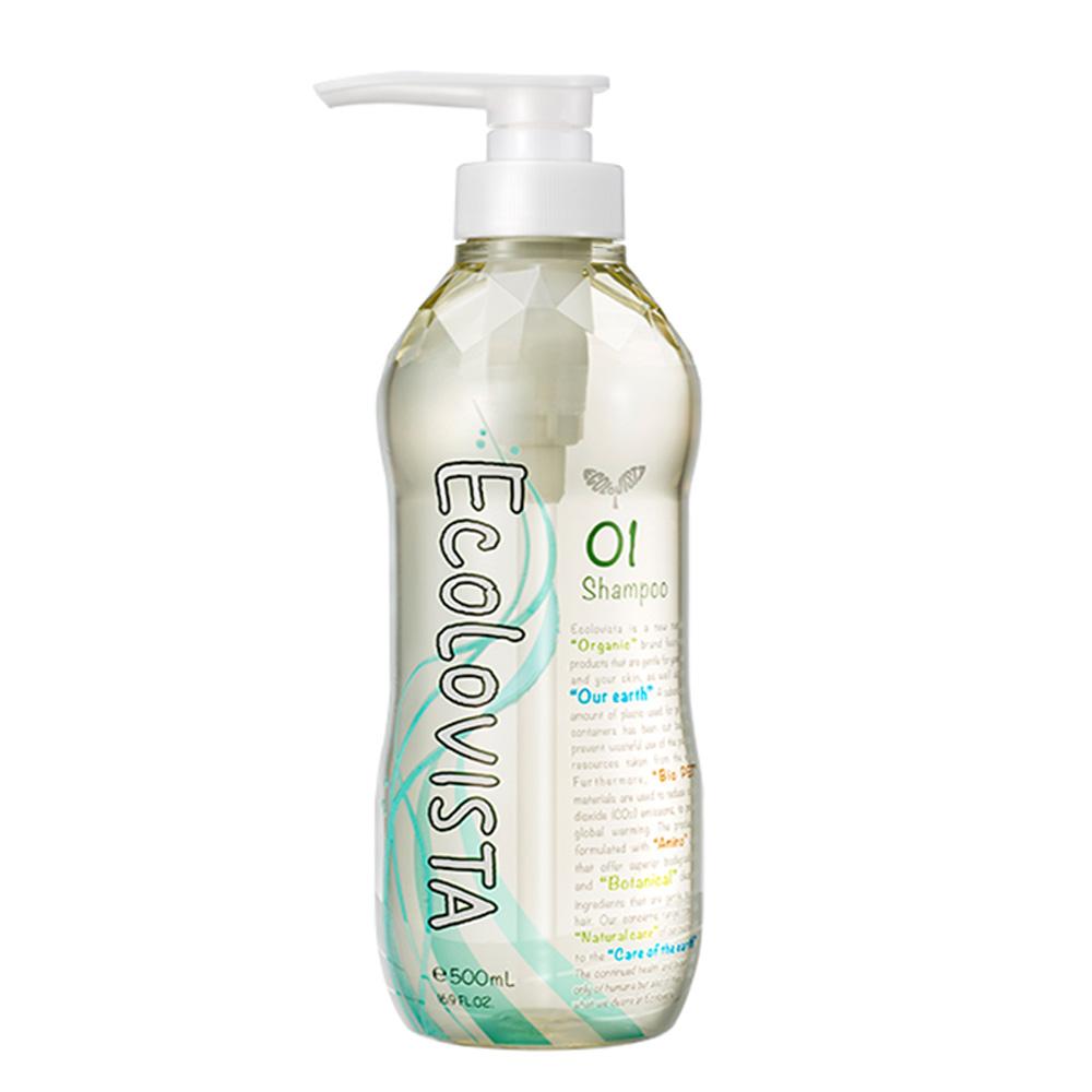 日本Ecolovista 植寇希 氨基酸植物精油洗髮精500ml-亮澤滋潤