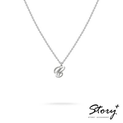 STORY ACCESSORY-字母系列-字母C 純銀項鍊