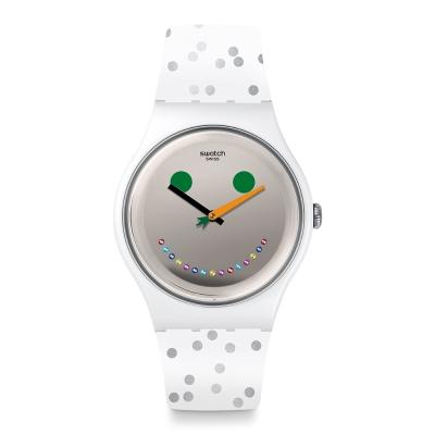 Swatch 耶誕限量錶 ISIDOR 2017耶誕雪人限量版手錶-41mm