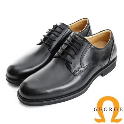 GEORGE 喬治-避震系列 經典舒適圓楦紳士皮鞋(男)-黑色