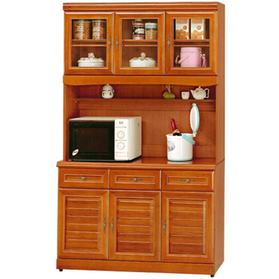 《Homelike》樟木4尺廚房收納櫃