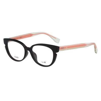 FENDI 小貓眼光學眼鏡 (黑色)FF0143F