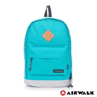 AIRWALK-古著布紋-簡單豬鼻系筆電後背包-小豬淺藍
