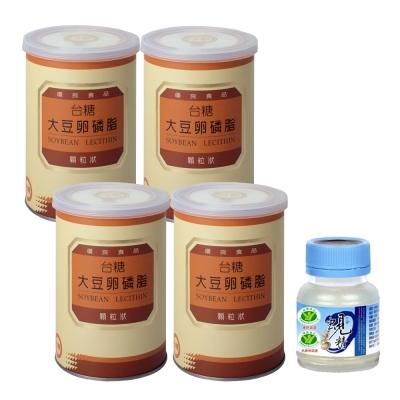 台糖 大豆卵磷脂(200公克/罐)x4罐(贈台糖 原味蜆精x1瓶)