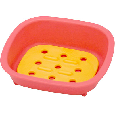 Sceltevie 濾水肥皂盒(桃)