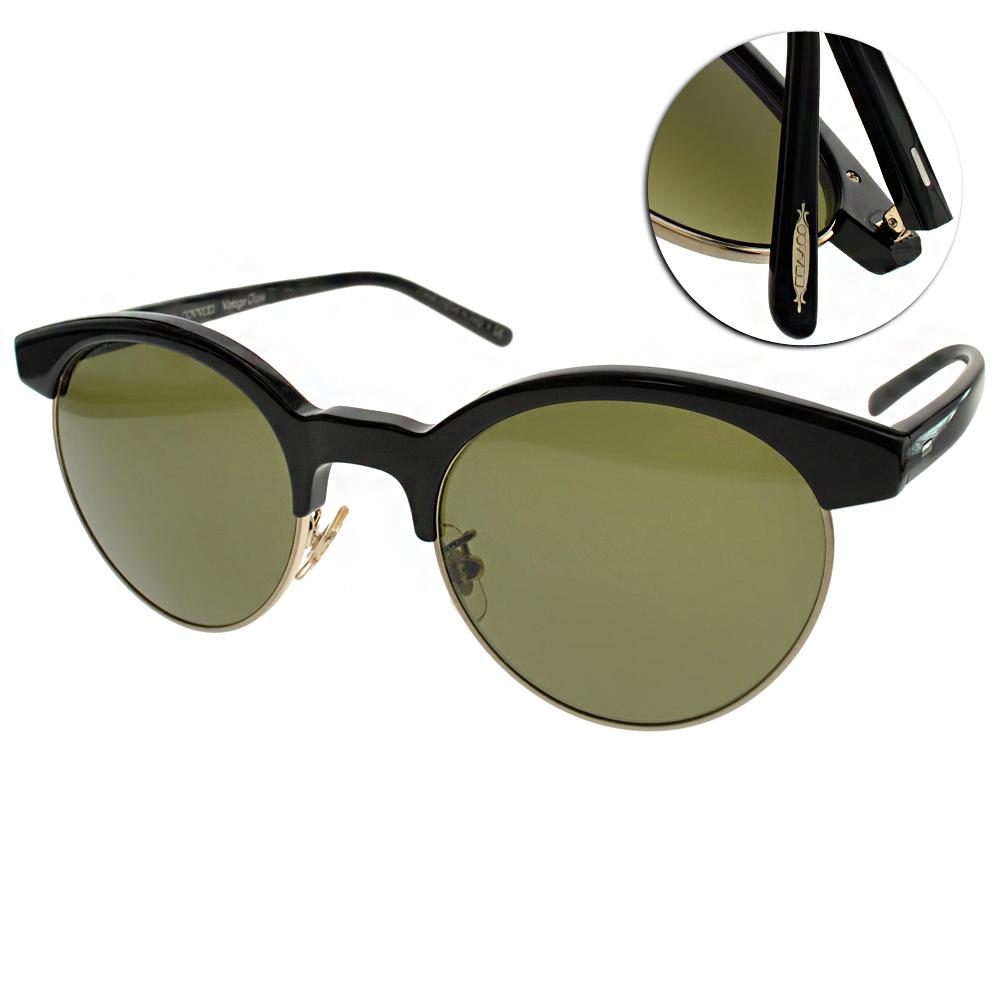 OLIVER PEOPLES太陽眼鏡 個性圓框/黑#EZELLE 100552