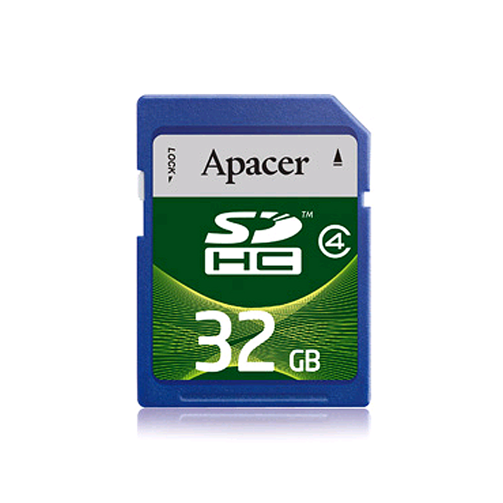 Apacer宇瞻 32GB SDHC 記憶卡(Class 4)