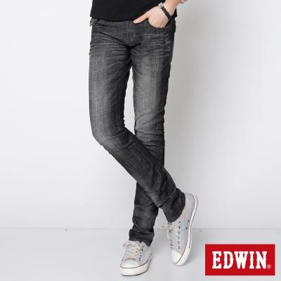 EDWIN MISS 503袋蓋窄直筒牛仔褲_女_灰色
