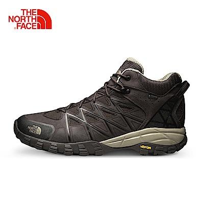 The North Face北面男款棕色抓地耐磨徒步鞋