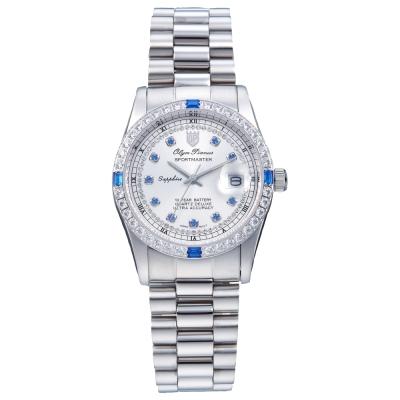 Olym Pianus 奧柏表  蠔情系列都會爵士時尚晶鑽腕錶 /24mm