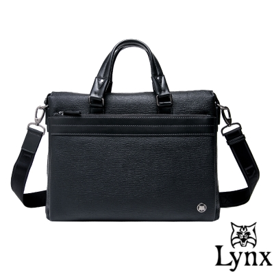 Lynx - 山貓真皮經典款極品型男公事包-共<b>2</b>色
