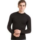 SOLIS 嚴選 MIT 立領長袖棉柔吸濕發熱衣(黑色)