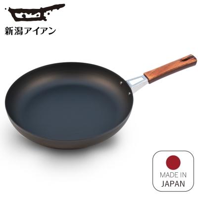 日本新瀉鐵器 鍛鐵平底煎鍋28cm