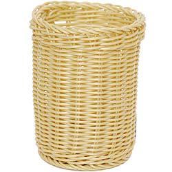 EXCELSA 圓筒編織麵包籃(奶油黃11.5cm)