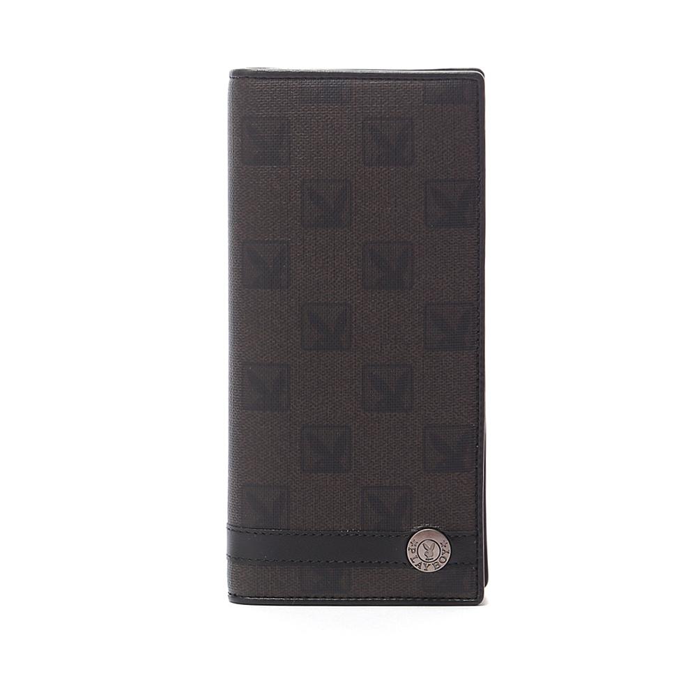 PLAYBOY- Checkerboard Rabbit 系列 翻蓋式長夾-經典黑