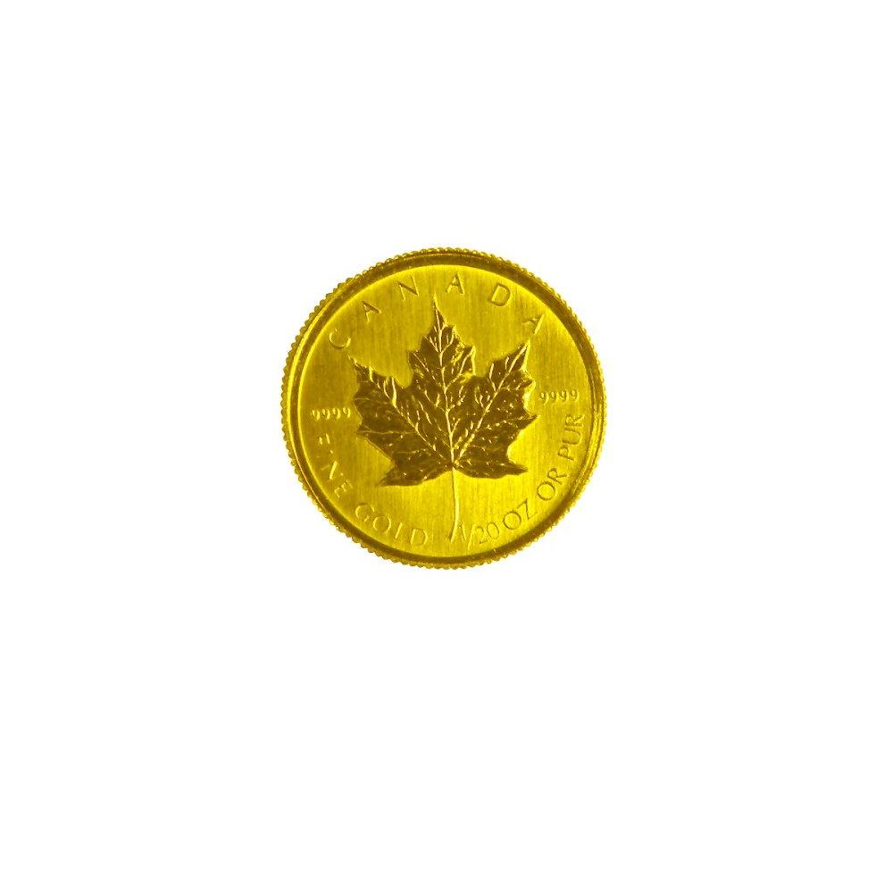 楓葉金幣-加拿大楓葉金幣 (1/20盎司)