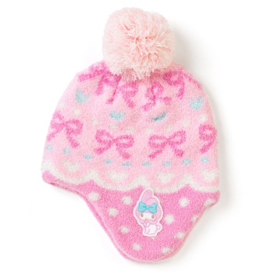 Sanrio  美樂蒂女童可愛球球保暖針織毛帽(KIRAKIRA)