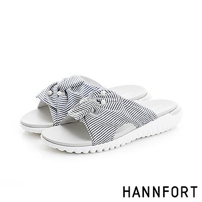 HANNFORT Ultra Flex 3D條紋珍珠涼鞋-女-海軍藍