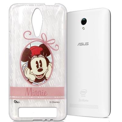 迪士尼 ASUS Zenfone C 徽章系列透明彩繪手機殼