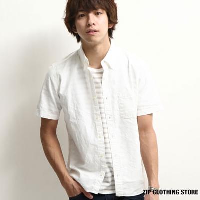 日本製牛津襯衫短袖款 ZIP日本男裝