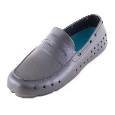 (男/女)Ponic&Co美國加州環保防水洞洞懶人鞋-灰色