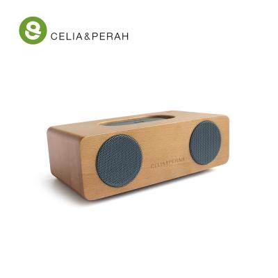 CELIA&PERAH M2 無線藍牙高傳真實木音響 (山毛櫸焦糖色)