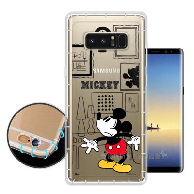 迪士尼授權 Samsung Galaxy Note 8 簡約線條 空壓安全手機殼...