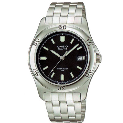 CASIO 世界城市新風範指針錶(MTP-1213A-1A)-黑