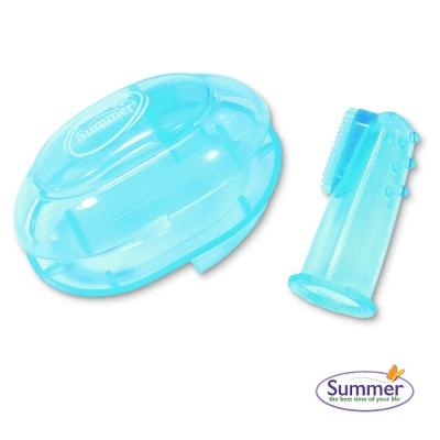 美國 Summer Infant 指套型牙刷(含盒) 藍