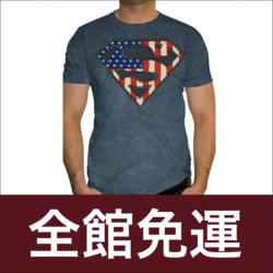 SUPERMAN美國國旗短袖T恤