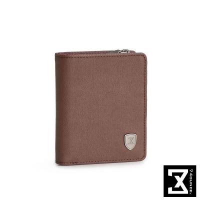 74盎司 FIT 時尚三折短夾(零錢袋)[N-510]咖啡