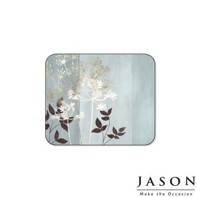 Jason紐西蘭進口長方軟木塞杯墊11.5*9.5cm-植物根莖(6入) (8H)