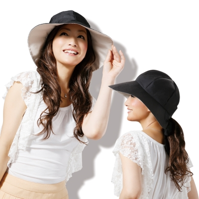 日本Sunfamily 3用寬帽緣抗UV防風小顏帽