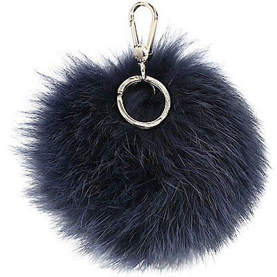FURLA BUBBLE 狐狸毛球吊飾(海軍藍)