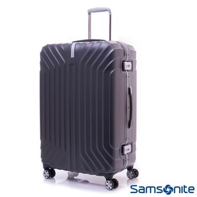 Samsonite新秀麗 25吋Tru-Frame PC時尚硬殼鋁框行李箱(碳黑)