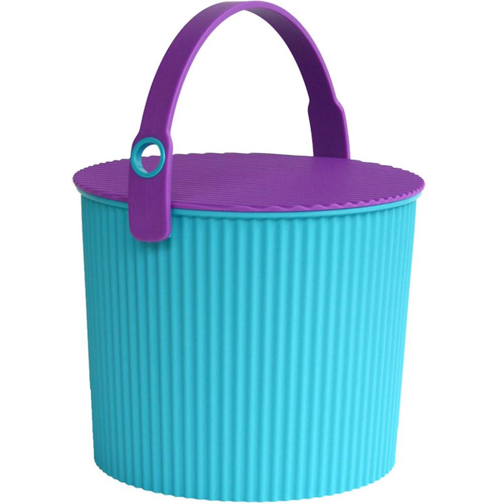 Sceltevie 瓦楞收納桶(藍綠S)