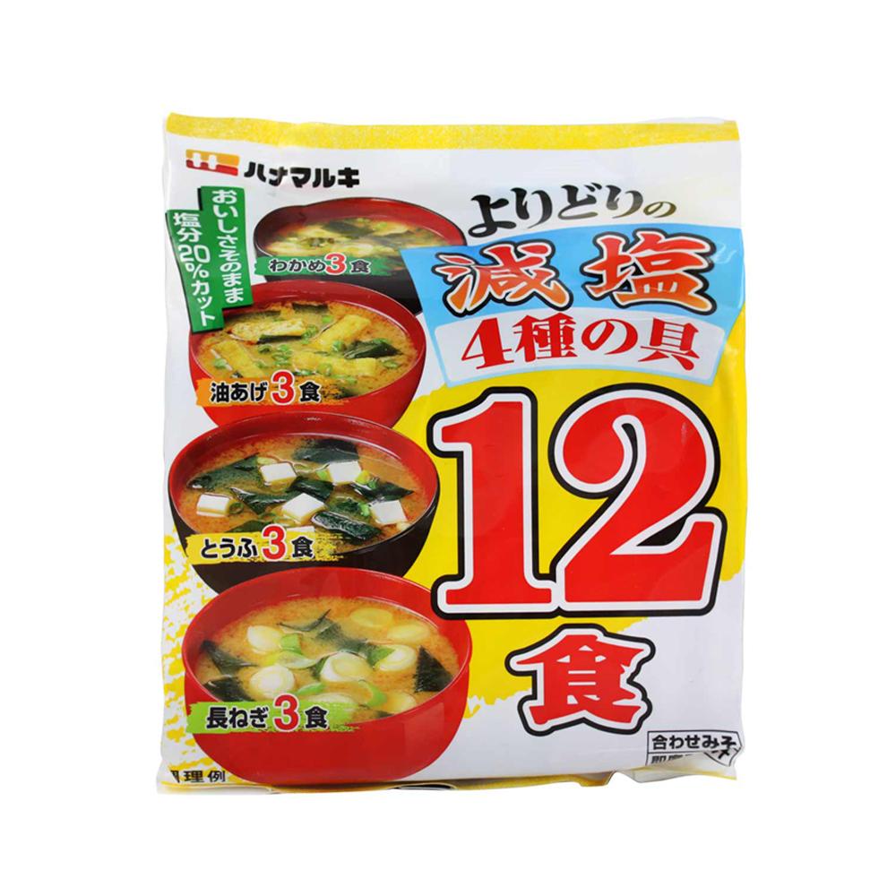 花丸木 減鹽味噌湯12食(206.7g)