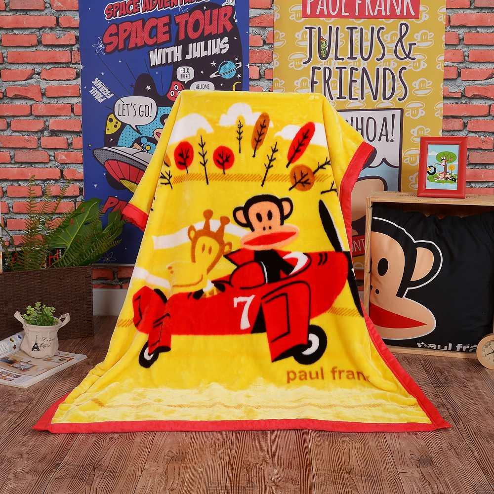 Paul Frank 環遊世界頂級加厚法蘭絨休閒毯