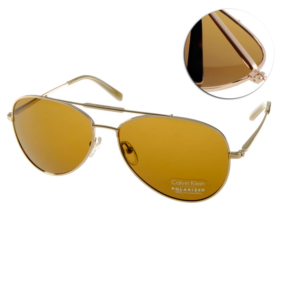Calvin Klein太陽眼鏡 時尚飛官款/金#CK7477SP 718