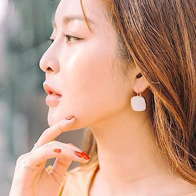 質感簡約小方塊耳環-OB大尺碼