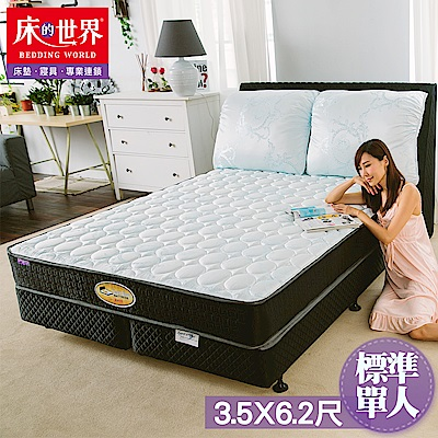 床的世界 美國首品麗緻護背式標準單人彈簧床墊S 5