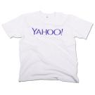 Yahoo! LOGO中性短T。白 (L)