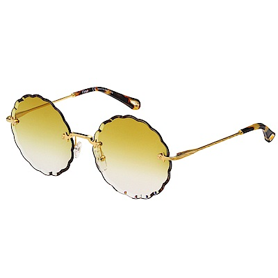 CHLOE 雲朵造型 太陽眼鏡 金色 CE142S