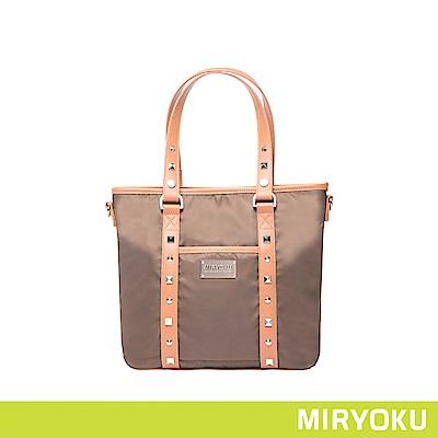 MIRYOKU 時尚休閒系列 / 率性鉚釘尼龍兩用包(共3色)