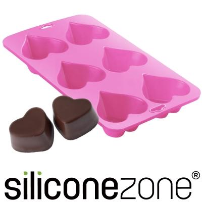 Siliconezone 施理康耐熱大愛心造型巧克力模/冰模-粉色