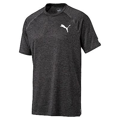 PUMA-男性訓練系列BND短袖T恤-深麻花灰-歐規