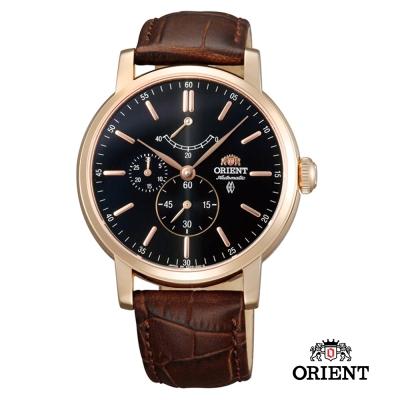 ORIENT 東方錶 POWER RESERVE系列 藍寶石機械錶-玫瑰金/41mm