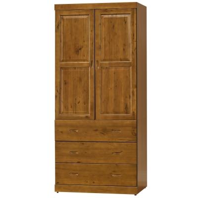 時尚屋 玉桂實木3x7尺衣櫃