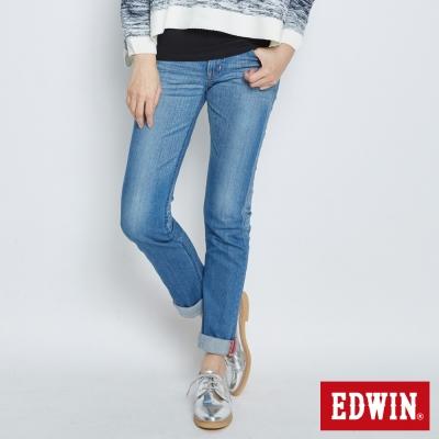 EDWIN-MISS-EDGE窄直筒牛仔褲-女-石洗藍